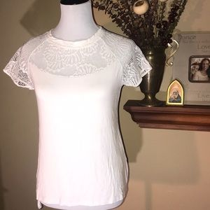 BCBG tshirt with lace top.
